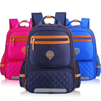 e025f5f5c8d0 Водонепроницаемый Нейлон Школьная Сумка детей школьные сумки для мальчиков ортопедический  рюкзак школьный Девушки Дети рюкзаки Mochila