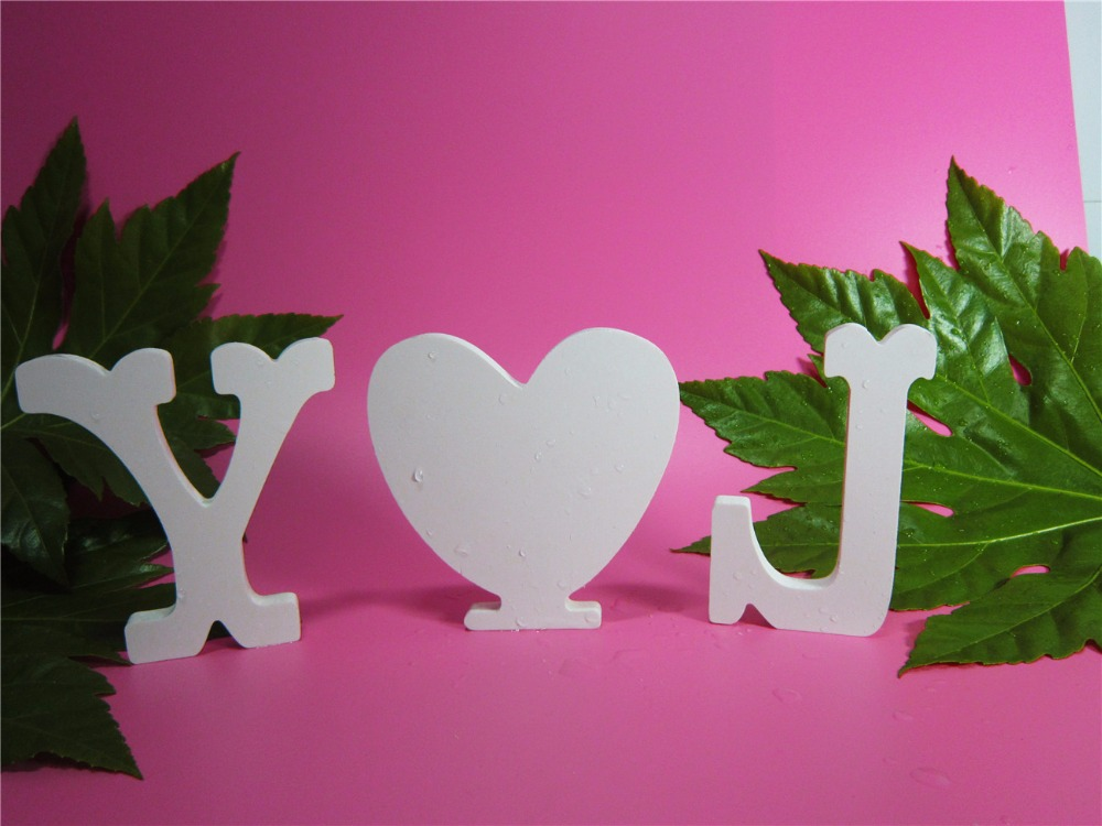 15cm free standing artificial wood wooden letters white alphabet for wedding photo props birthday party home