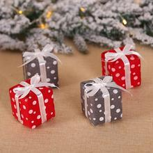 Small Gift Box Christmas Hanging Ornament Mini Tree Cartoon Pendant New Year Decorations Accessories