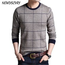 NEWDISCVRY Thick Warm Sweater Men 2018 Autumn Winter O Neck Slim Men s Knitted Pullover Cotton
