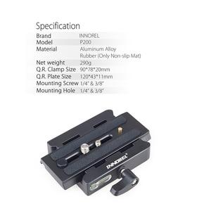 Image 2 - INNOREL P200 Verbeterde Aluminium Legering Quick Release Clamp Kit QR Plaat Adapter Voor Manfrotto 501 500AH 701HDV 503HDV Q5 etc