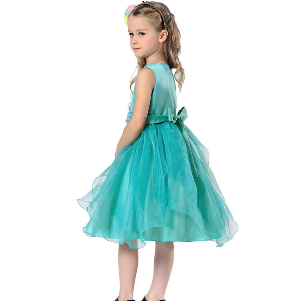 2017 New Summer Wedding Party Girls Dress Princess Baby Clothes ...