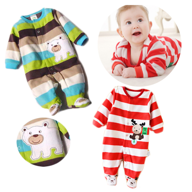 1d80484101ff 2017 Baby Rompers Newborn Baby Clothes Long Sleeve Animal Cute Boy ...