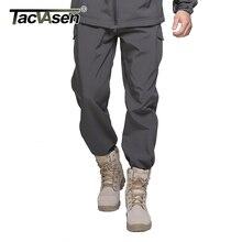 TACVASEN Neue Winter Shark Haut Soft Shell Tactical Military Camouflage Hose Männer Wasserdichte Warme Paintball Armee Fleece Pant