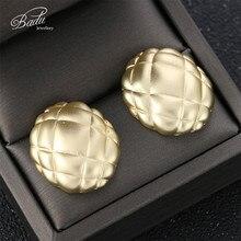 Badu Irregular Stud Earring Gold Silver Zinc Alloy Metal Earrings for Women 2019 New Arrival Fashion Jewelry Gift Girls
