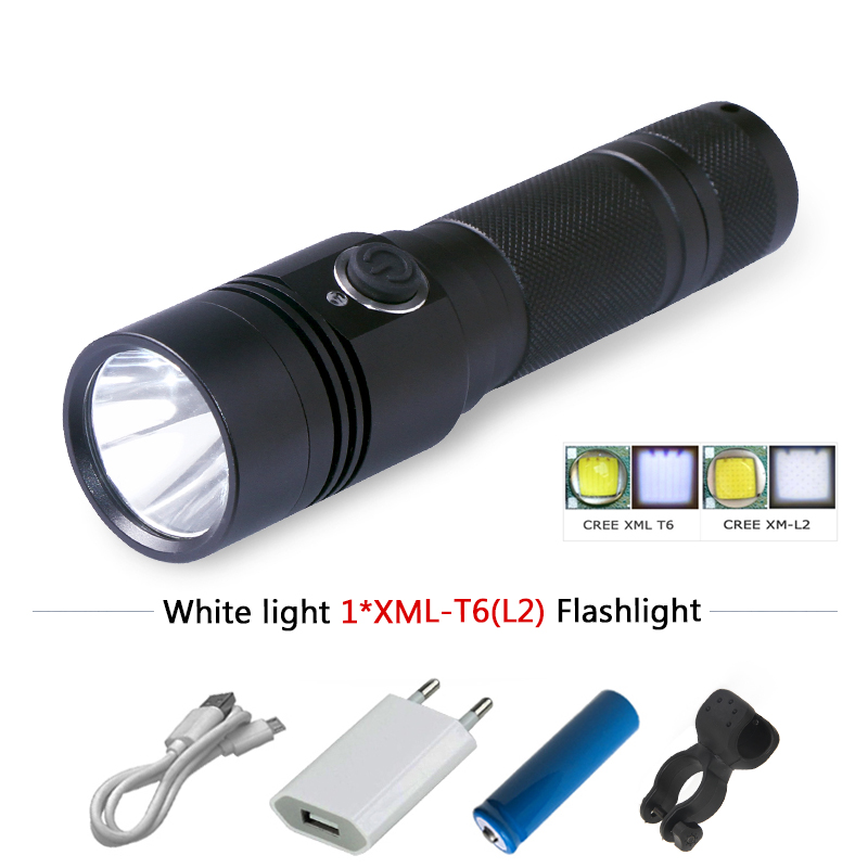 linternas 3800 lumens cree xm-l2 flashlight LED XML T6 L2 flash light USB Intelligent hunting equipment flashlights фонарик tomtop xml t6 2200lm 5 linternas & hx318a 2200lm flashlight hw 30