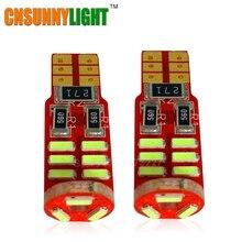 Тип СВЕТОДИОДА направленного света CNSUNNYLIGHT-CAN-BUS T10 W5W 4014 15SMD SMD СВЕТОДИОДНЫЙ высокое Мощность автомобильный клиновидный фонари Габаритные светодиодные лампы AC/DC 12V автомобильный Стайлинг