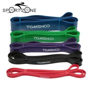 TOMSHOO 208cm Workout Resistance Band Pull Up Assist Stretch Resistance Band Yoga Exercise Elastic Bands for Fitness Home Gym