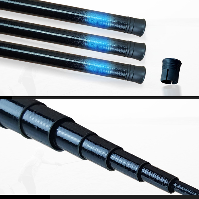 2019 High Quality Thread FRP Fishing Rod Telescopic Ultralight Hard Fishing Pole For Stream Freshwater  MSD-ING