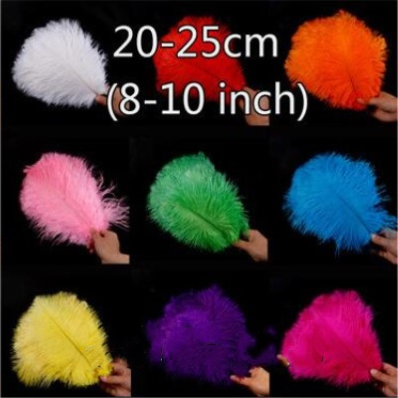 100pcs/lot 6 8 Inch 20 25 Cm Artificial Ostrich Feathers Bulk For