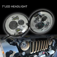 7 inch 45w round led 7'' round headlight for jeep headlight with H4 H13 plug 2 pcs