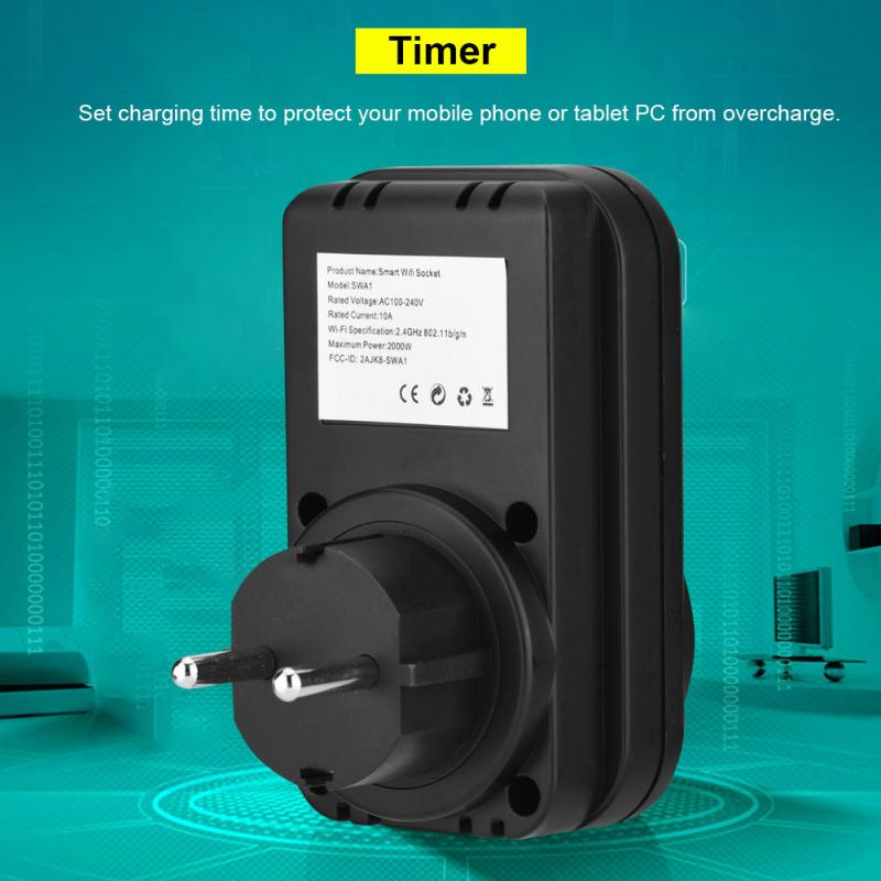 Smart Outlet Wi Fi 2G/3G/4G Remote Control Smart Power Outlet ...