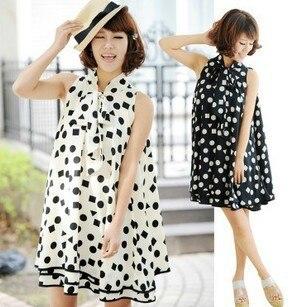 Материнства платье dot повседневные платья новинка симпатичные одежда для беременных одежда для беременных шифоновое платье летом