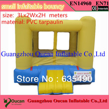 3X2x2m PVC tarpaulin outdoor and indoor small inflatable bouncer for family use