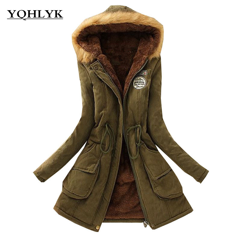 2018 New Parkas Female Women Winter Coat Thickening Cotton Winter Jacket Womens Outwear Parkas for Casual Women Winter K089