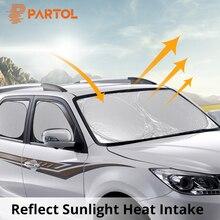 Partol можно сложить универсальное серебряное покрытие портативные автомобильные солнцезащитные очки универсальная защита от солнечного света УФ летом внедорожники