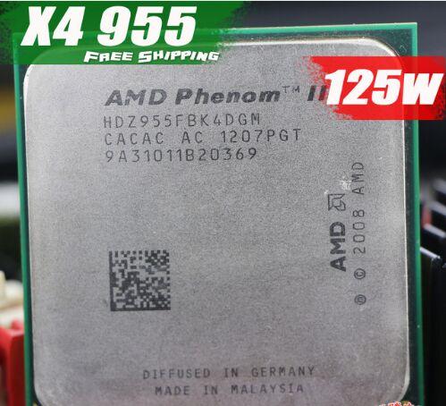 Livraison Gratuite AMD Phenom II X4 955 Bureau CPU Processeur 3.2 ghz 6 mb Prise AM2 +/AM3/ 125 w 938Pin Quad-CORE scrattered pièces