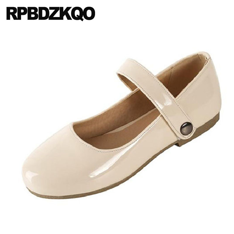 2018 Nude Mary Jane Patent Leather Flats Japanese School Slip On Cheap Shoes  China Round Toe Ladies Designer Women Chinese-in Women s Flats from Shoes  on ... 1f5f20da4a8c