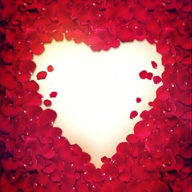 500pcs table confetti decoration silk rose petals - Petale de rose bain ...