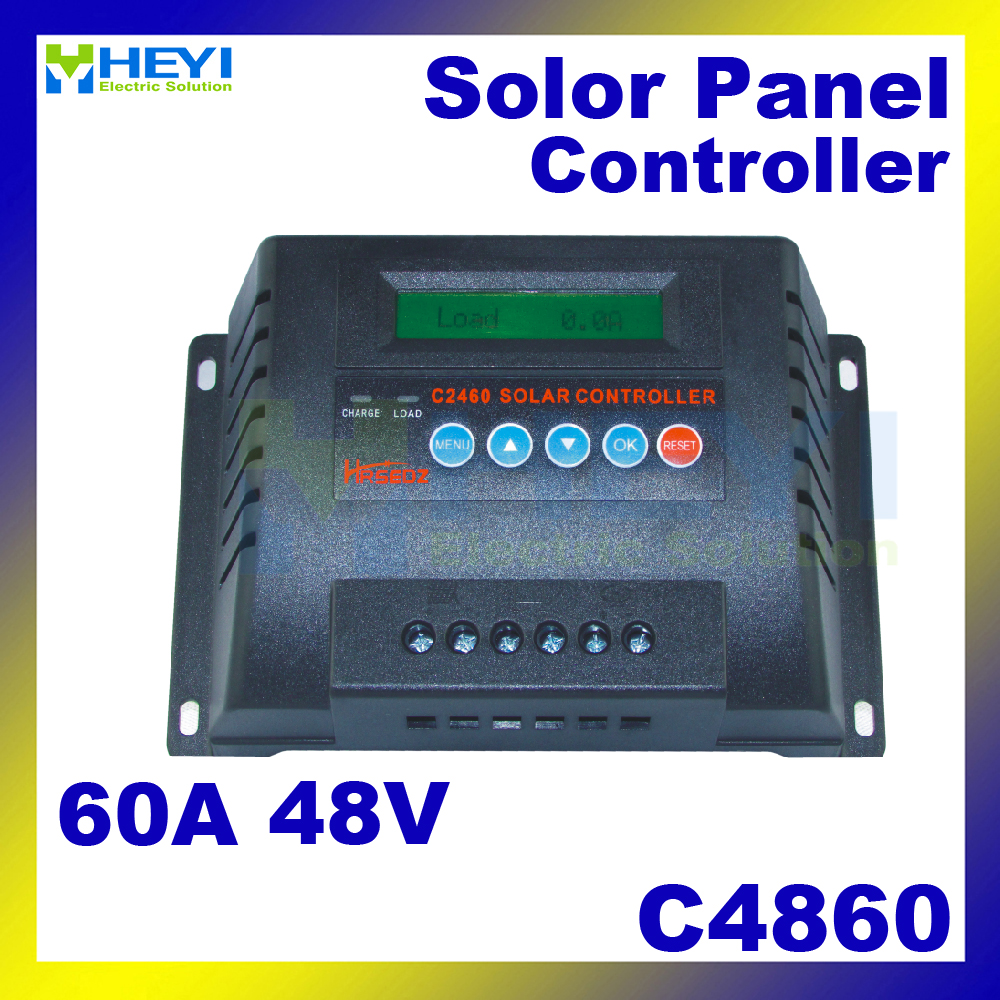 Solar Controllers 182*120*70mm C4860-60 60A 48V solar controller pwm real-time display of charging current and discharge current design of adaptive fuzzy controllers
