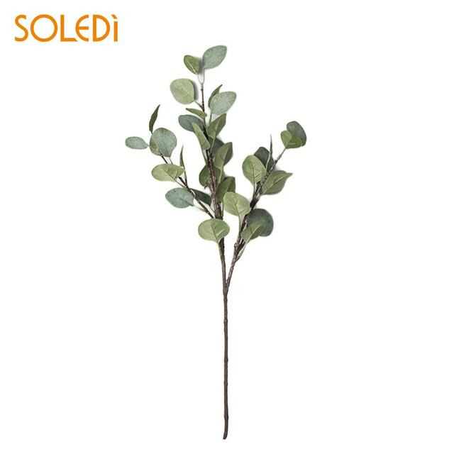 beautiful real touch artificial eucalyptus leaf fake plant green