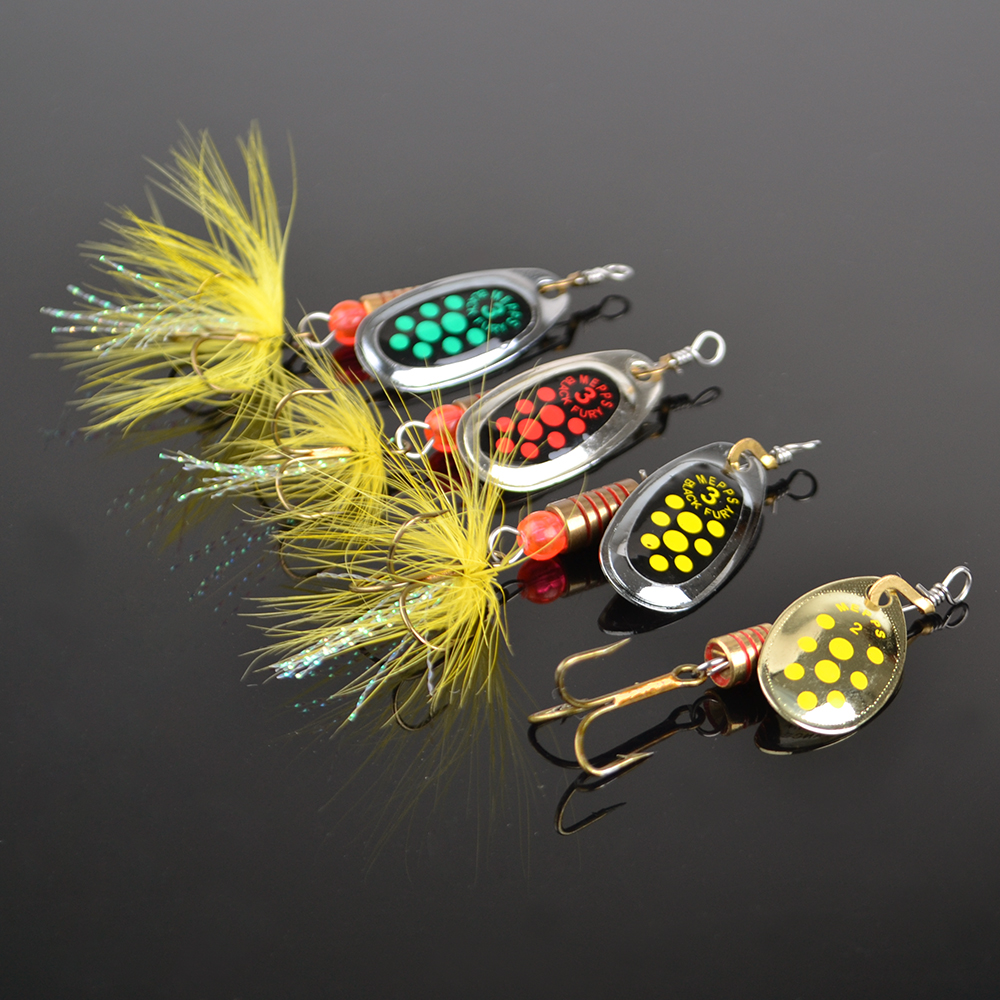 1pc size0 size5 fishing hard lure bait leurre peche mepps for Fishing bait and tackle