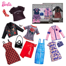 Original Barbie  Mix Doll Fashion Clothe Outfits Doll Shoes Set Doll Toy Girls Dolls Accessories Play House Party Girls Gift цены