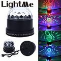 2016 Высокое Качество ЕС США Plug СВЕТОДИОДНЫЕ Изменения Цвета RGB Звук Активизированный лампа 15 Вт 2 в 1 Мини Вращающийся Magic Ball Свет для Сцены партия