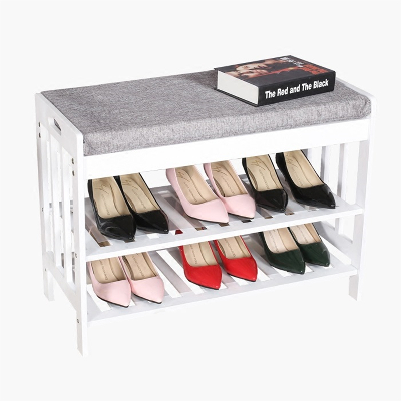 Wooden and modern storage simple dust rack shoes shoe пуф wooden круглый белый