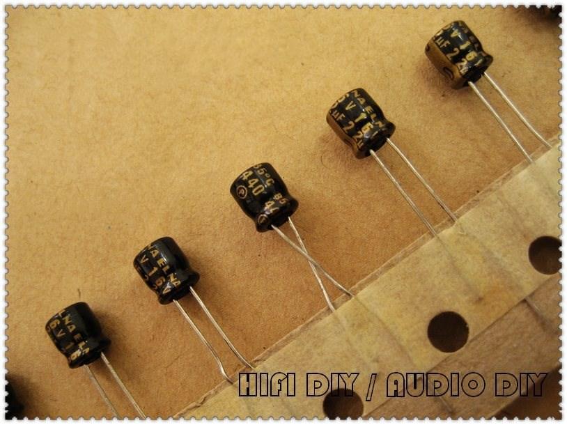 20PCS/100PCS ELNA Black Gold R3A 22uF 16V 16V22UF Ultra-small Volume Electrolytic Capacitor