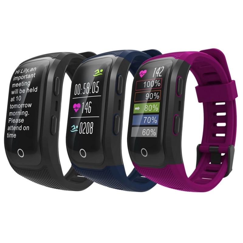 S908S couleur écran intelligent bracelet GPS intelligent compteur de pas étanche sport support g-sensor 3D accéléromètre/Gyroscope