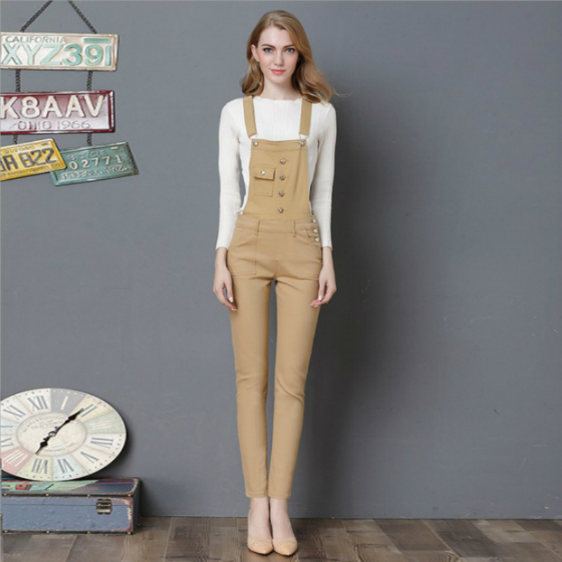 2018 new spring and autumn Fashion casual cotton plus size brand female women girls pencil pants jeans overalls clothes 79131
