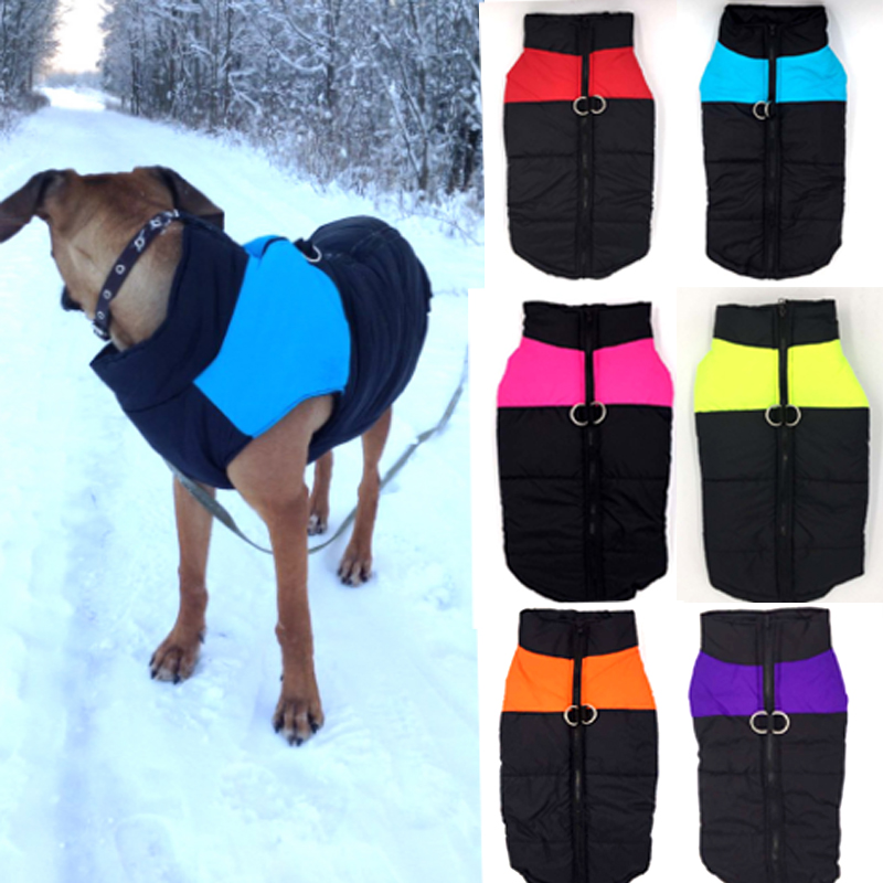 Waterproof Pet Dog Puppy Vest Jacket Clothing Warm Winter Dog Clothes Coat For Small Medium Large Dogs 6 Colors S-5XL