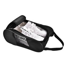 Portable Breathable Golf Shoes Bag Zipped Sports Bag Shoe Case Golf Shoe Bag - Zippered Shoe Carrier Bags Case Pocket Pouch(China)