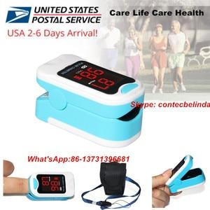 CONTEC CMS50M nuevo oxímetro de pulso de la yema del dedo saturación de oxígeno en sangre SPO2 pulsómetro, bolsa, caja, cordón CE