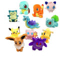 Anime Cartoon Plush Toy New Eevee Pikachu Snorlax Charmander Bulbasaur Squirtle Dragonite Lapras Gengar Stuffed Doll Kids Gift