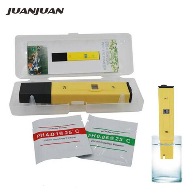 10pcs lot ATC PH METER Water Acid Tester DIGITAL Meter Pool Water Acidity Pocket Pen with