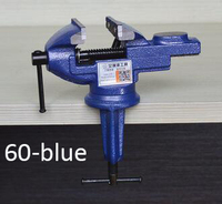 Model 60 BLUE Table Vise Metal Clamp locksmith Clip for woodworking DIY tools