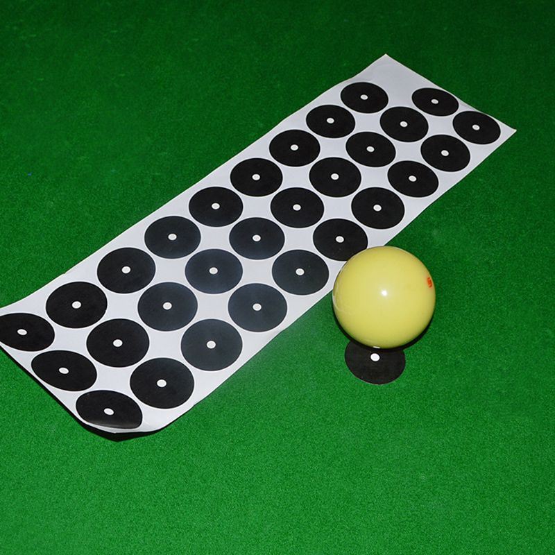 OOTDTY Billiard Point Stickers Black Table Spots White Ball Locator Sticker Snooker Pool Accessories American English in Snooker Billiard Accessories from Sports Entertainment
