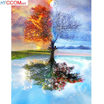Full DIY 5D Diamond Painting Seasons Tree Cross Stitch Diamond Embroidery Patterns rhinestone Diamond Gift image