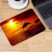 Yuzuoan Dolphins Jump out  the Sea Mouse Pads Computer Gaming Mouse Mat 18*22cm,20*25cm,25*29cm Non-Skid Soft Rubber Mousepad