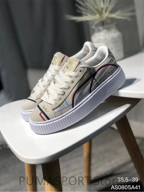 2018 New Arrival Puma Suede Platform Women s Breathable Sneakers Badminton  Shoes Size 35.5-39 ab43602123a4