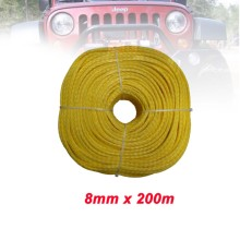 Gratis Verzending 8 MM x 200 M 12 Strand Extreme Oranje UHMWPE Synthetische Touw