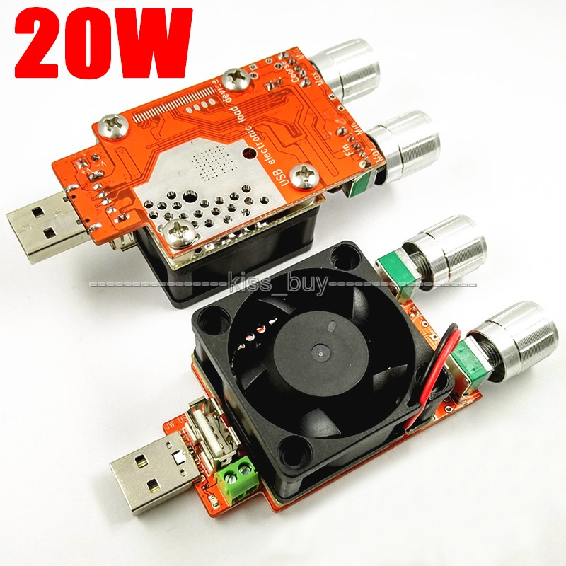 DC 3.7V-21V 3A Adjustable USB Electronic Load Battery Discharge Capacity Tester