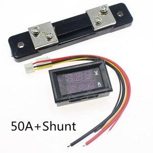 Mini 0.28inch LED Digital Voltmeter Ammeter DC 100V 50A Volt Ampere Meter Amperemeter Voltage Indicator Tester with shunt(China)