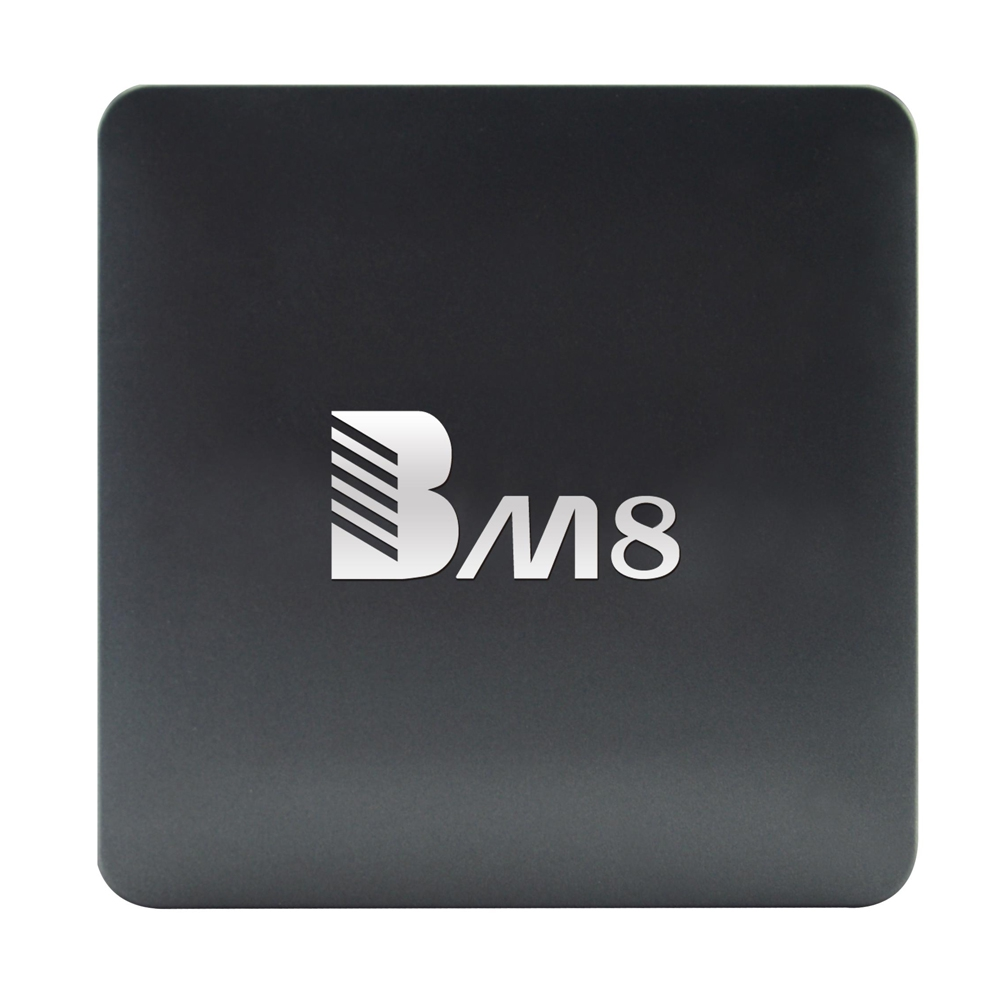 BM8 Android TV Box Amlogic S905X Quad Core 4K H.265 Decoding Android 6.0 2.4G + 5G Dual Band WiFi 2GB Set-up Box for Smart TV