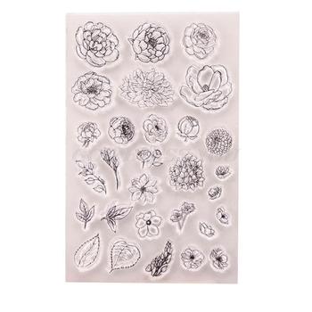 Flower Silicone Clear Seal Stamp DIY Scrapbooking Embossing Photo Album Decorative Paper Card Craft Art Handmade Gift - discount item  17% OFF Arts,Crafts & Sewing