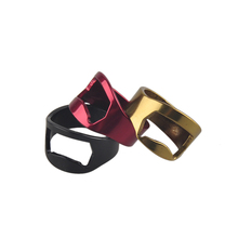 3pcs/lot Red Blakc Gold Silver 22mm Cool Finger Ring Bottle Opener Practical Stainless Steel Beer Multipurpose