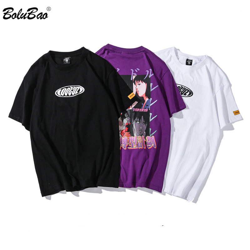 BOLUBAO Fashion Brand Hip Hop Men T-Shirts Printing 2019 Summer Men's T Shirt Casual Street Clothing Men Tee Shirts Top