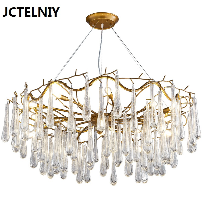 Living room pendant light French crystal led branches bar lamps - Indoor Lighting - Photo 1